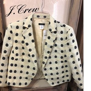 J.crew Polka Dot Cropped Jacket